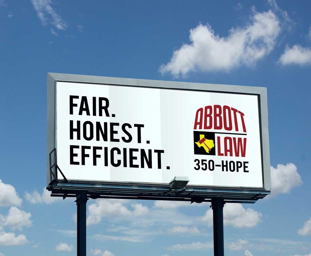Abbott Law Office | Billboard Design 2 | Creative Cannon