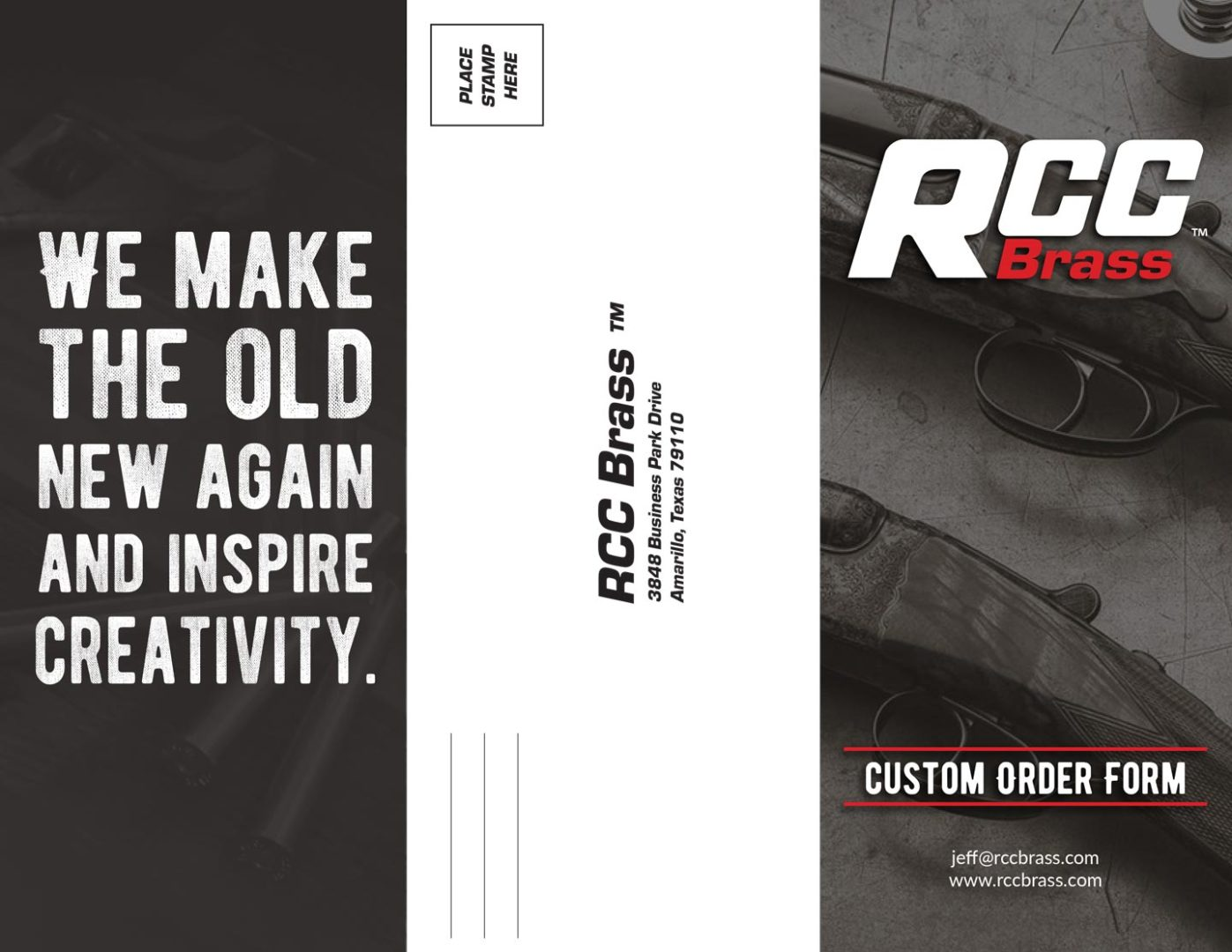RCC Brass Wildcat Order Form Design